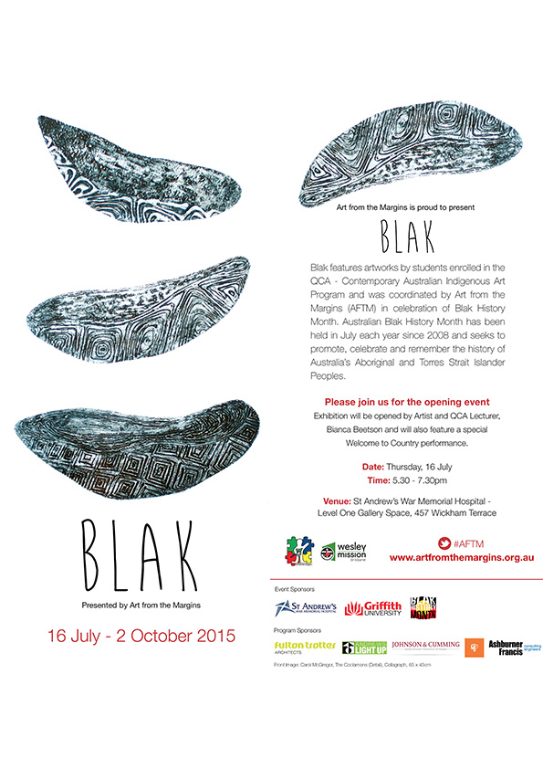 media blak exhibit invite